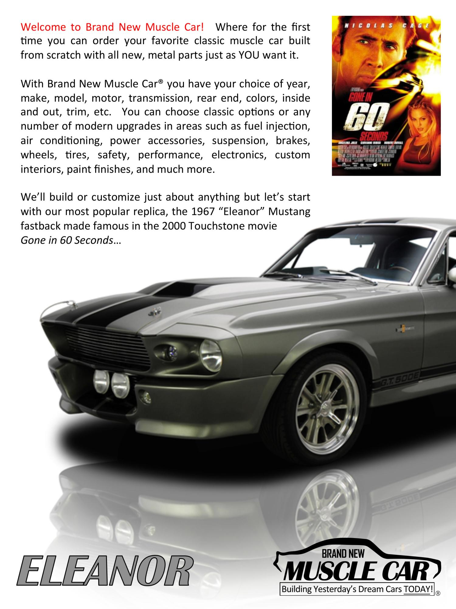 eleanor brochure page 2 eleanor mustang replica builder for sale 1967 shelby ford g t 500. Black Bedroom Furniture Sets. Home Design Ideas